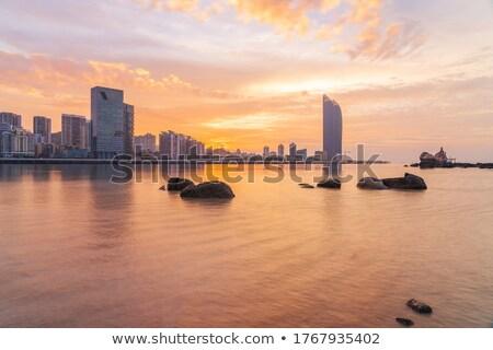 Xiamen downtown at night along the coast Stock photo © kawing921