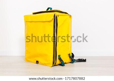Pizza Man & Thermal Bag Stock photo © lisafx