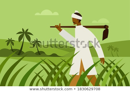 Segédmunkás tart ásó nő építkezés portré Stock fotó © photography33