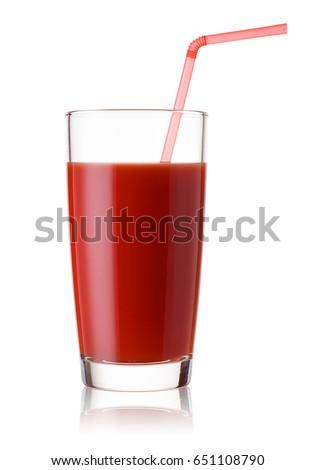 トマトジュース ガラス 孤立した 白 食品 愛 ストックフォト © shutswis