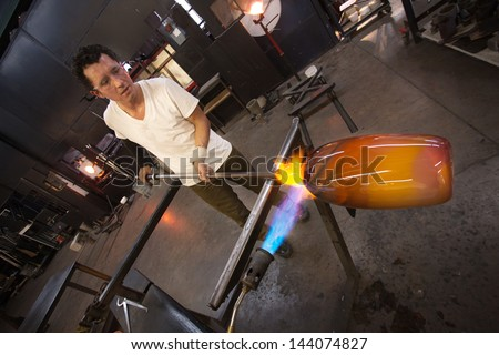 Man holding a blowtorch Stock photo © photography33