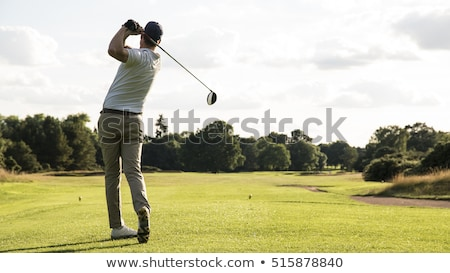Jogador de golfe bola inteiro descalço grama Foto stock © michaklootwijk