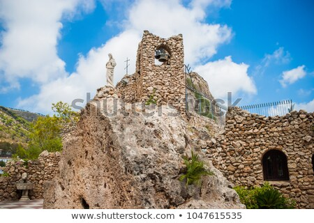 Church in the rock in Mijas in Spain Stock photo © CaptureLight