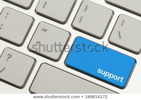 Dienst Blauw ondersteuning knop klanten moderne Stockfoto © tashatuvango