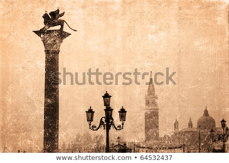 Old streetlight at the St. Mark's, square in Venice. Stock photo © Pilgrimego