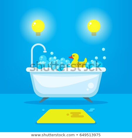 Vintage style bathtub with soapy bubbles Stock photo © adrian_n