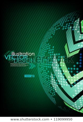 стрелка · зеленый · место · текста · прибыль · на · акцию · 10 - Сток-фото © helenstock