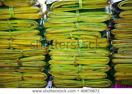 palm leaves bundled as packing material Stock photo © meinzahn