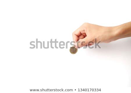 negyed · dollár · érme · izolált · fehér · vágási · körvonal - stock fotó © smuki
