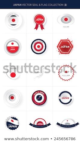 made in japan on red stamp stock photo © tashatuvango
