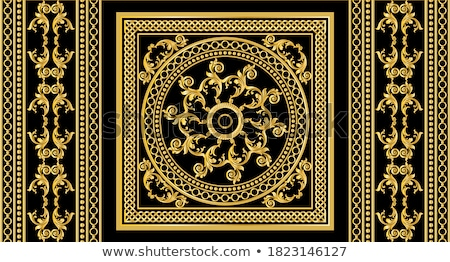 background circular gold ornaments and flowers from jewels Stock photo © yurkina