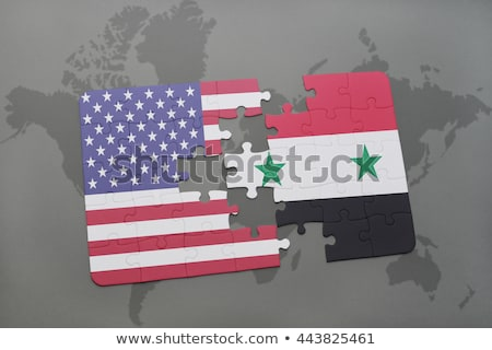 ABD Suriye bayraklar bilmece vektör görüntü Stok fotoğraf © Istanbul2009