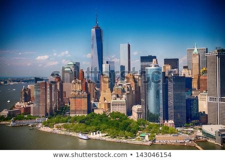 financial · district · Manhattan · görmek · gökdelenler · özgürlük · kulesi · yeni - stok fotoğraf © rmbarricarte