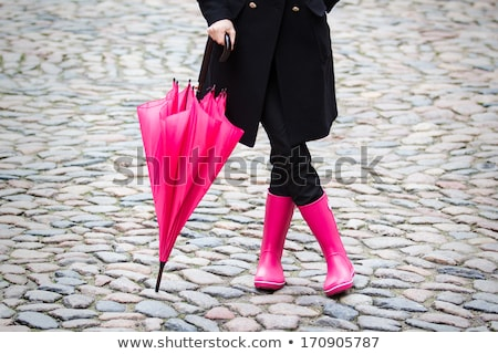 pink rubber boot Stock photo © kovacevic