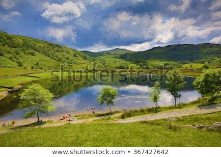 Lake District természet kő tó ősz vakáció Stock fotó © chris2766