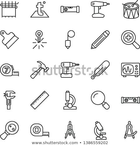 науки черный вектора кнопки икона дизайна Сток-фото © rizwanali3d