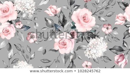 Watercolor seamless floral pattern Stock photo © kostins