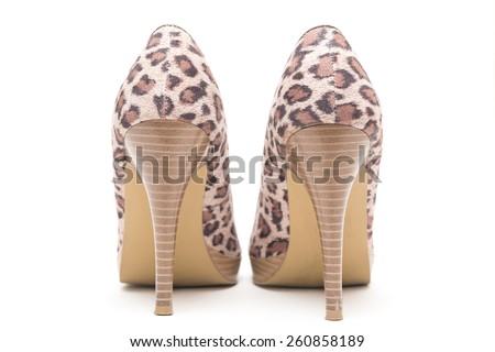 Közelkép színes láb nyomtatott izolált fehér Stock fotó © tetkoren