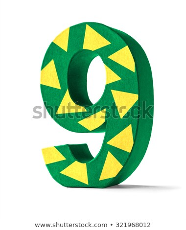 Colorful Paper Mache Number on a white background  - Number 90 Stock photo © Zerbor