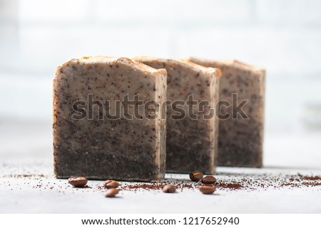 coffee soap soap for spa coffee and milk stock photo © tycoon