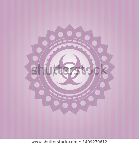 Bioveszély felirat rózsaszín vektor gomb ikon Stock fotó © rizwanali3d