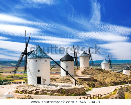 Windmill at Campo de Criptana La Mancha, Spain Stock photo © backyardproductions