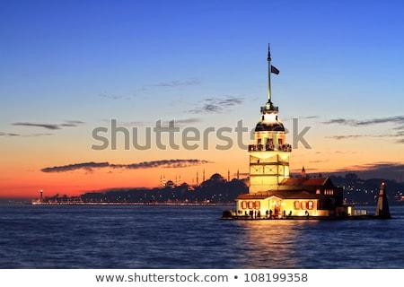 the maiden tower at dawn stock photo © elxeneize