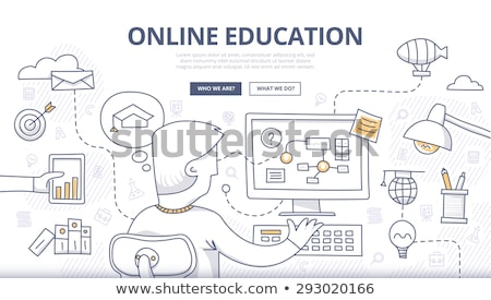 onderwijs · vector · communie · ingesteld · zeven · gedetailleerd - stockfoto © davidarts