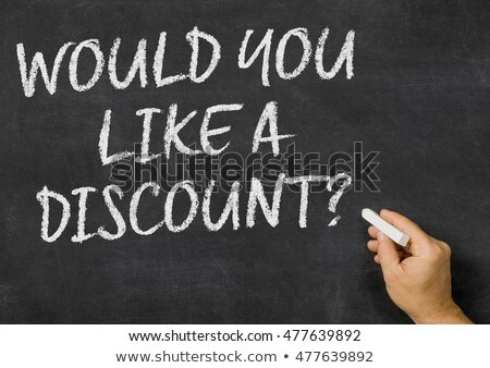 would you like a discount written on a blackboard stock photo © zerbor
