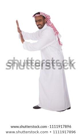 несчастный молодые арабских человека изолированный белый Сток-фото © Elnur