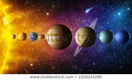 soleil · terre · lune · espace · galaxie - photo stock © sebikus