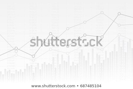 illustration of business bar graph on white background Stock photo © get4net