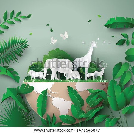 Forest Protection. Ecological poster Stock photo © barsrsind