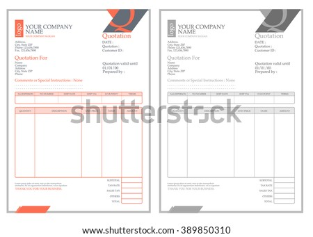 vector clean invoice template design Stock photo © SArts