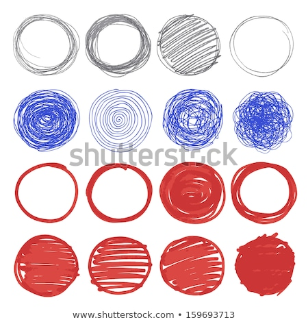 scribble style circle banners set Stock photo © SArts