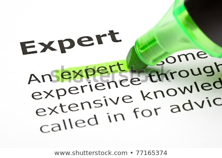 'Expert' highlighted in green Stock photo © ivelin