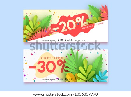 flat origami banners set in different colors Stock photo © SArts