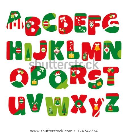 Christmas alphabet letter I Stock photo © grafvision