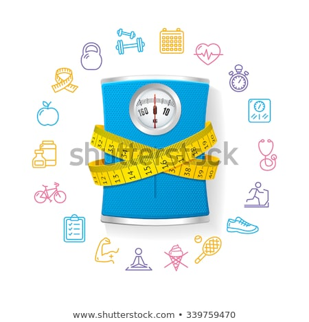 Set of health and body care icon, diet and weight loss Stock photo © MarySan