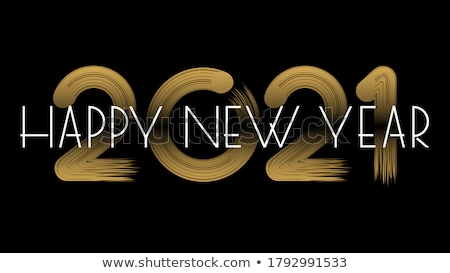 Happy new year parti kutlama poster şablon örnek Stok fotoğraf © articular