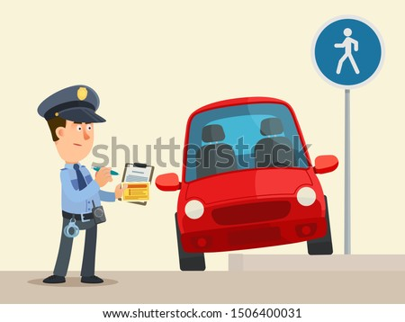 Car With Ticket Fine For Parking Violation Stock photo © AndreyPopov