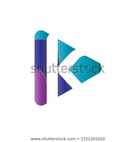 letter k with triangles logo logotype icon Stock photo © blaskorizov