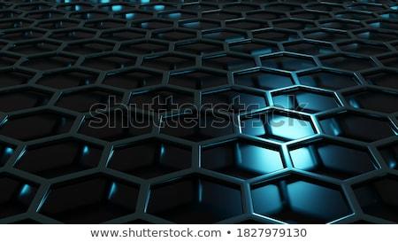 六角形 構造 バナー 3次元の図 建設 デザイン ストックフォト © limbi007