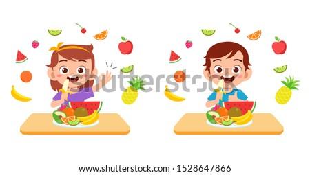 bes · vruchten · cartoon · illustratie · vier · zoals - stockfoto © pikepicture