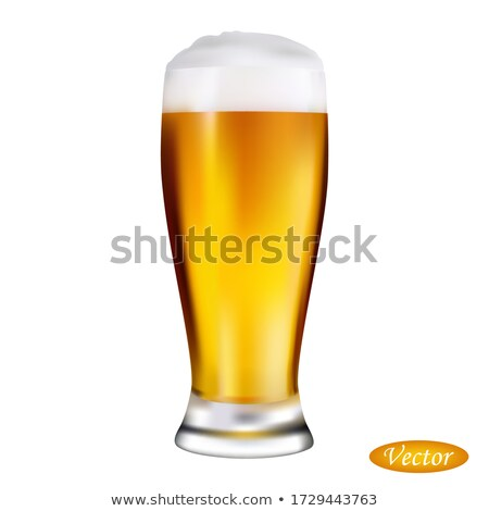 Cool Craft Beer with Foam in Glass Mug 3D Vector Stock photo © robuart