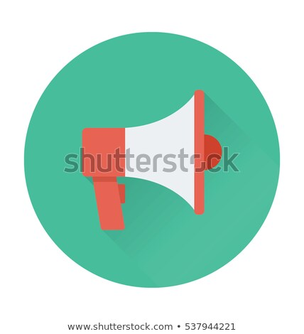 Luidspreker megafoon vector icon groot draagbaar Stockfoto © robuart
