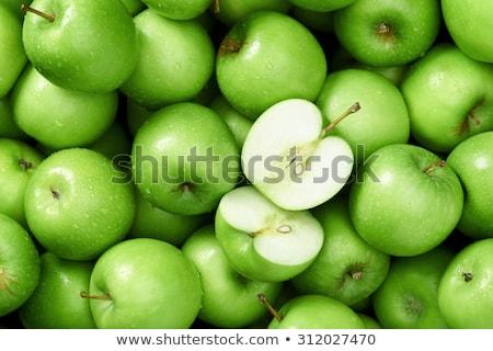 Zöld almák valósághű alma étterem piros Stock fotó © ConceptCafe