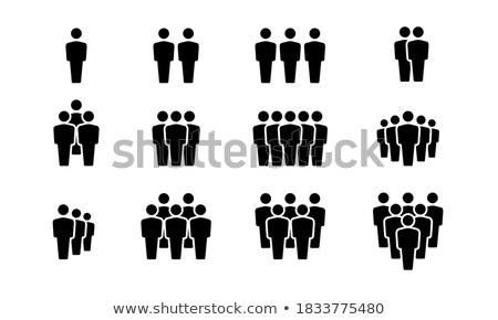 equipes · negros · silhueta · conjunto · ícone · pessoas - foto stock © Blue_daemon