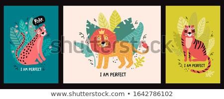 Set tigru ilustrare proiect fundal Imagine de stoc © colematt