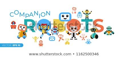 Digitale vector metgezel robots Stockfoto © frimufilms